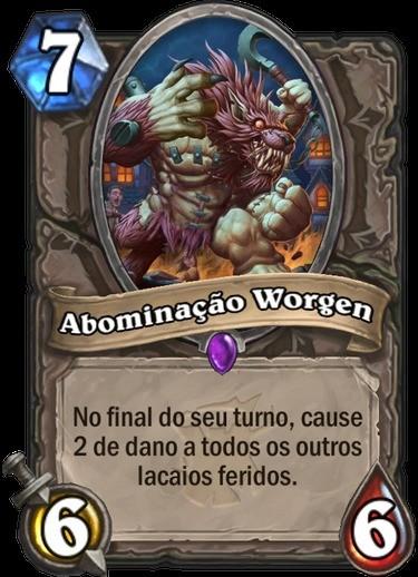 Abominação Worgen - Hearthstone