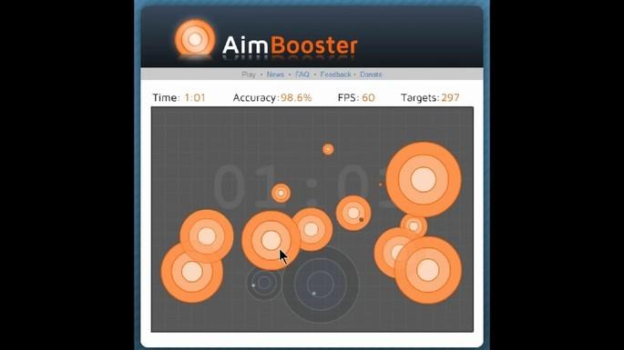Jogos para melhorar reflexo e mira - Aimbooster