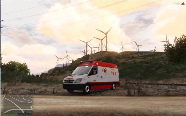 Ambulância da SAMU GTA V MOD