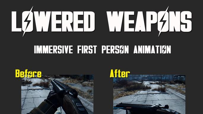 Armas bajadas mod fallout 4