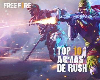 10 armas perfeitas para rush no Free Fire