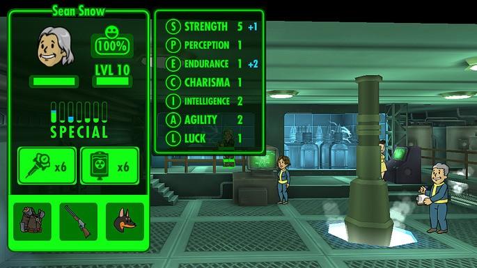 Atributos dos sobreviventes Fallout Shelter