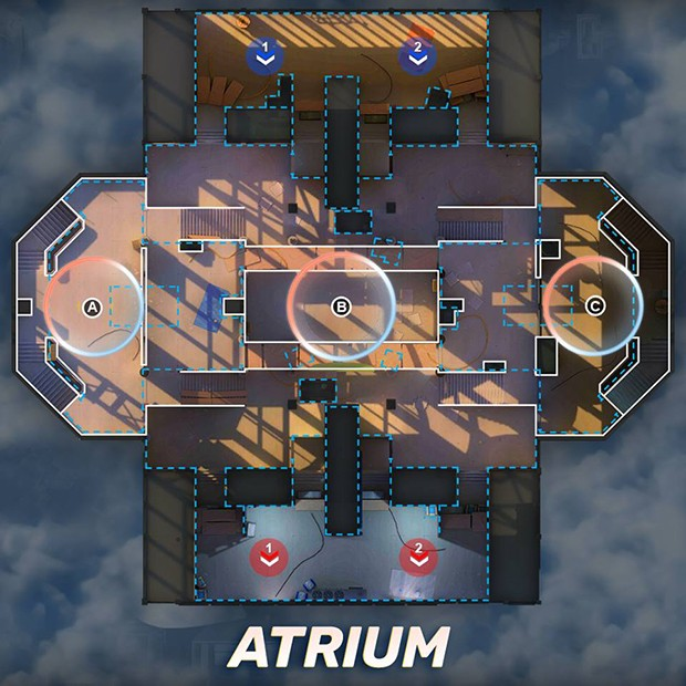 Mapa Atrium GOB