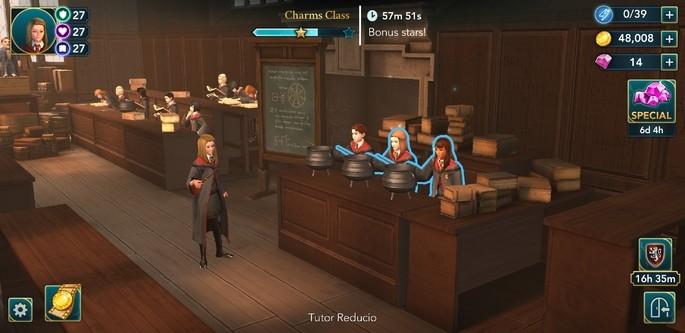 aula de feitiços hogwarts mystery