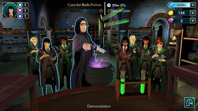 aula de poções hogwarts mystery