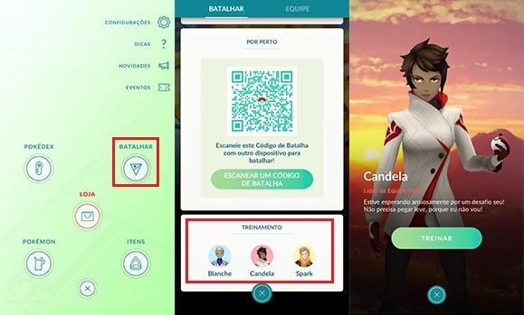 Batalhas Treinadores - Pokémon GO