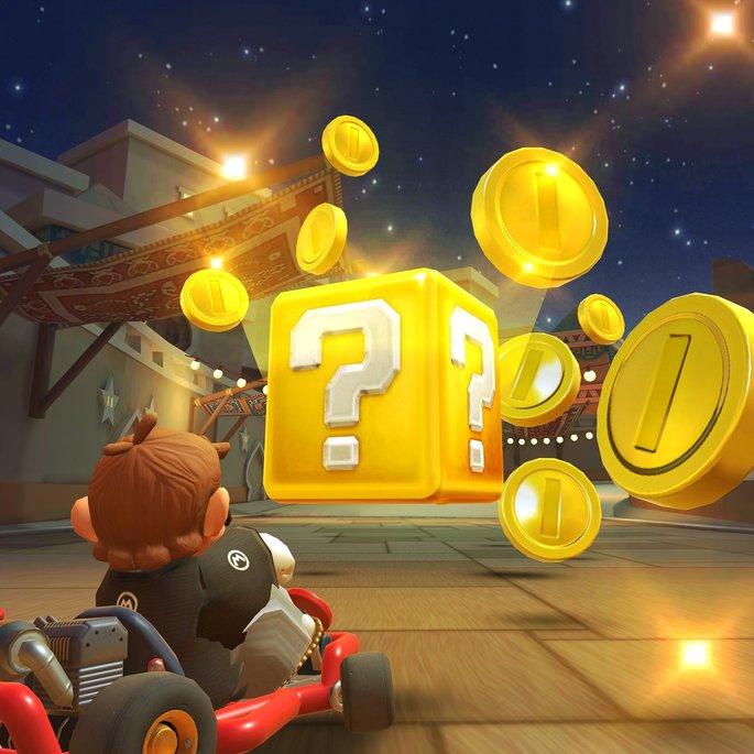 Bloco de ouro Mario Kart Tour
