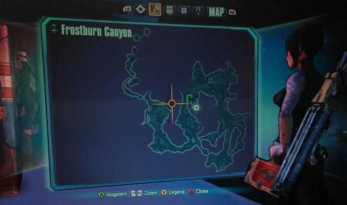Borderlands mapa