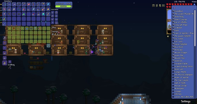 Lista de bosses - Terraria mods