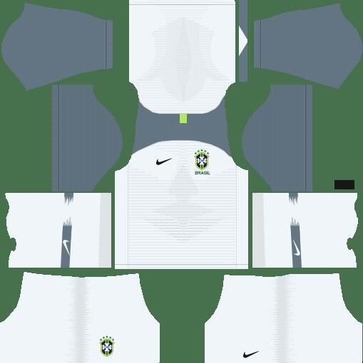Brasil kit dsl uniforme goleiro titular