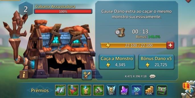 Caça monstros - Lords Mobile