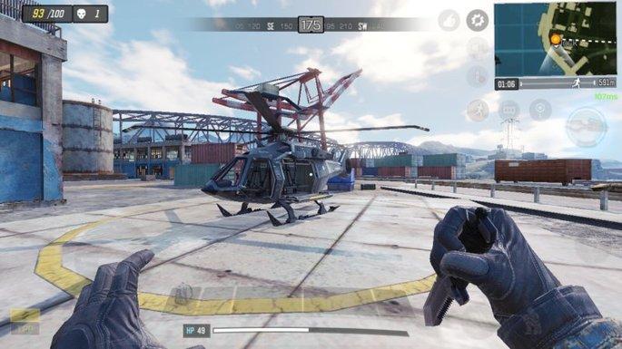 Call of Duty Mobile - Helicóptero - Doca