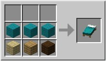 Cama Colorida - Minecraft