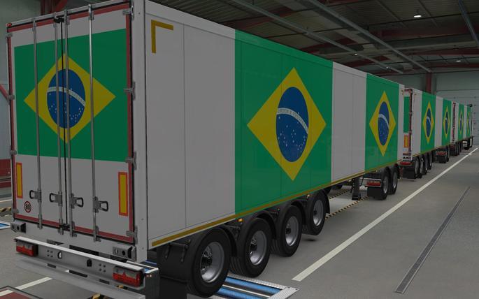 caminhão com bandeira do brasil