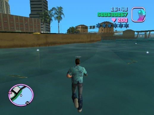 Caminhar sobre as águas GTA Vice City mod