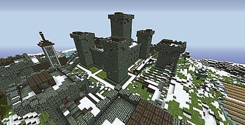 castelo na neve