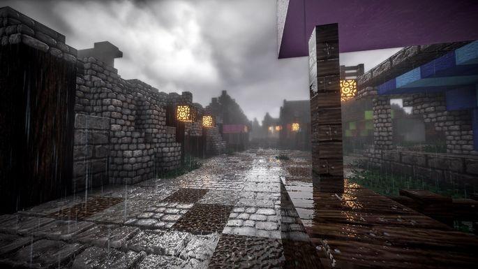 Chuva em Minecraft
