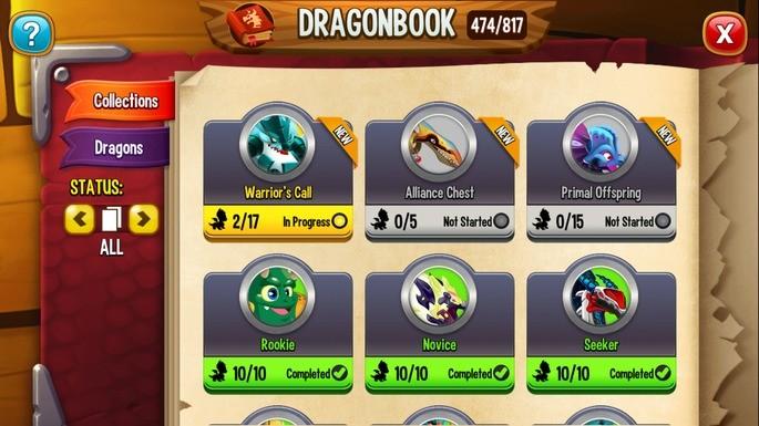 Coleção dragão dragon city