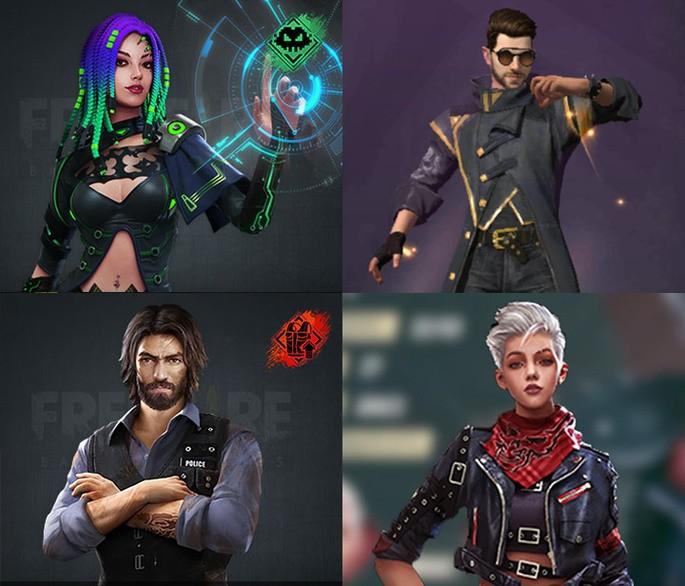 Combinacao squad 4 free fire 1