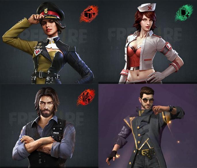 Combinação Squad 4 free fire 2