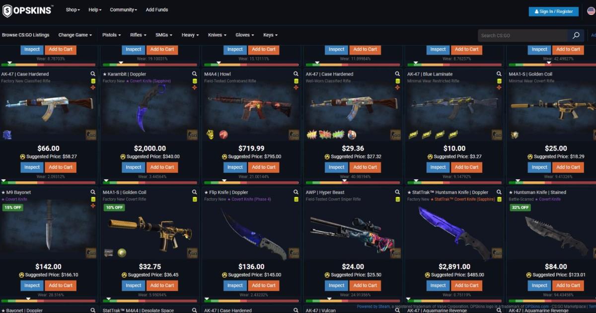 Os 4 melhores sites para comprar skins do CS:GO - Liga dos Games