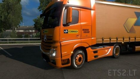 Correios skin mod euro truck simulator 2