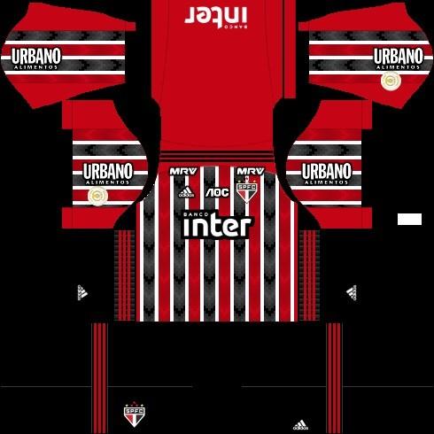 Dream League Soccer São Paulo kit reserva