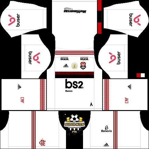 dream league soccer flamengo kit reserva 1