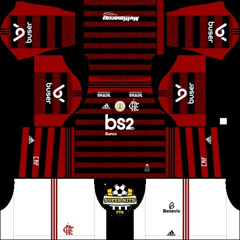 Dream League Soccer flamengo kit titular 1