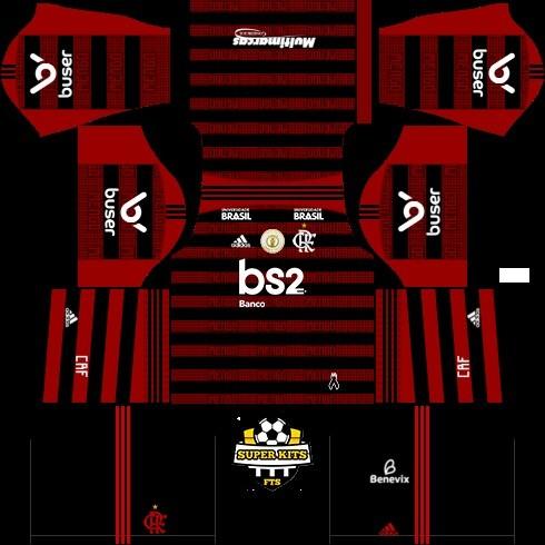 dream league soccer flamengo kit titular 2