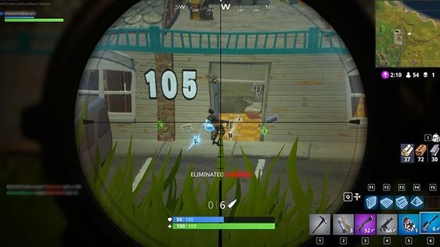 Eliminado Sniper Fortnite