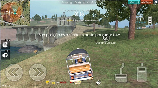 Escapar do Drone UAV Free Fire