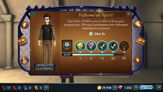 Eventos especiais Hogwarts Mystery
