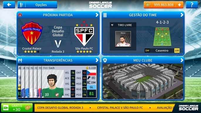 Evoluir jogadores Dream League Soccer