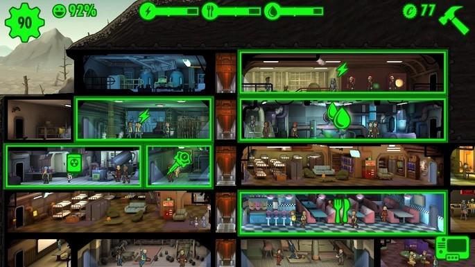 Fallout Shelter arquitetura