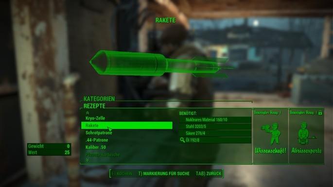 Fazer munição fallout shelter 4