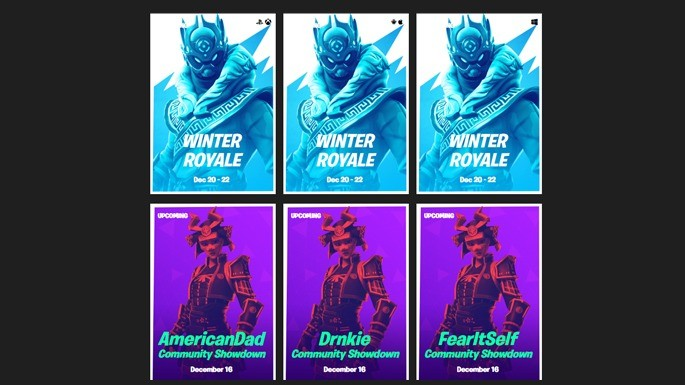 Fortnite Tracker - Eventos