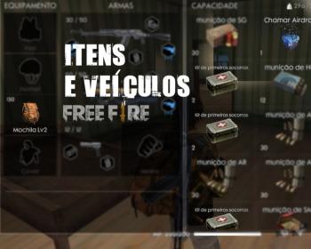 Conheça os itens e veículos de Free Fire Battlegrounds
