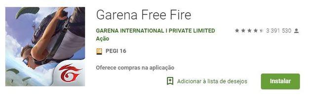 Free Fire app