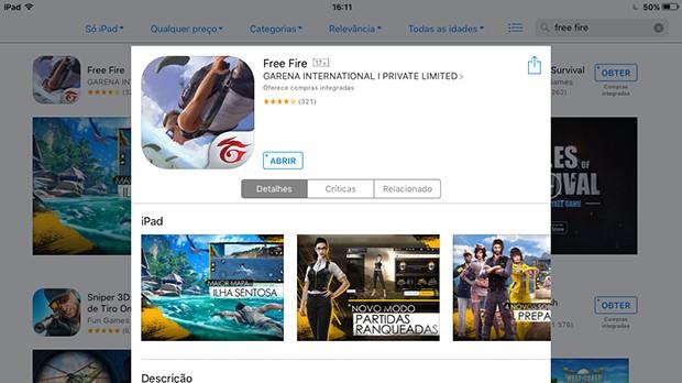 Free Fire Sistema iOS