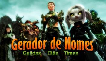 Gerador de nomes para guildas, clãs e times de jogos