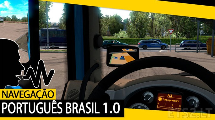 GPS brasileiro Euro Truck Simulator 2 mod