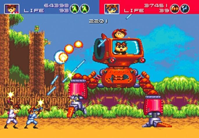 Gunstar Heroes Mega Drive