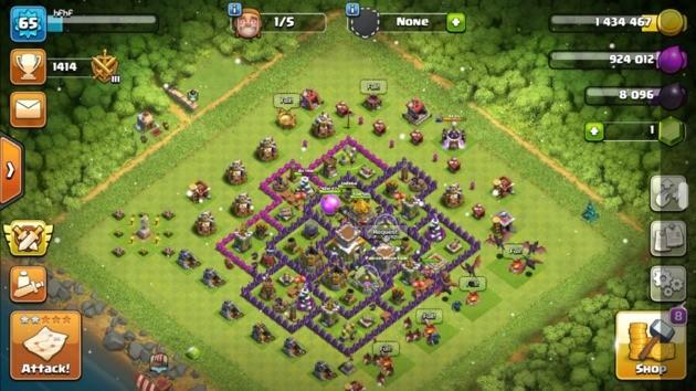 hybrid layout clash of clans