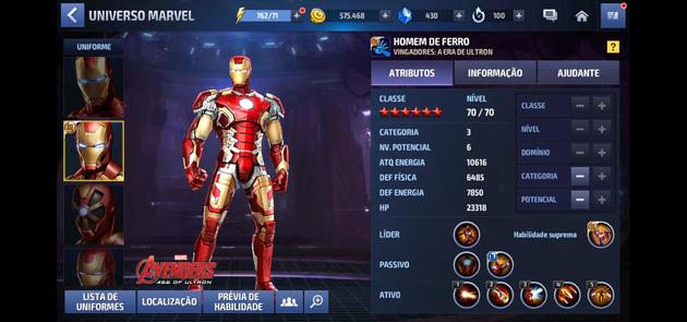 Marvel Future Fight - Iron Man - Categoria 3