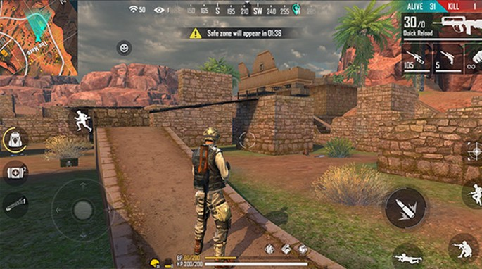 kalahari free fire maze