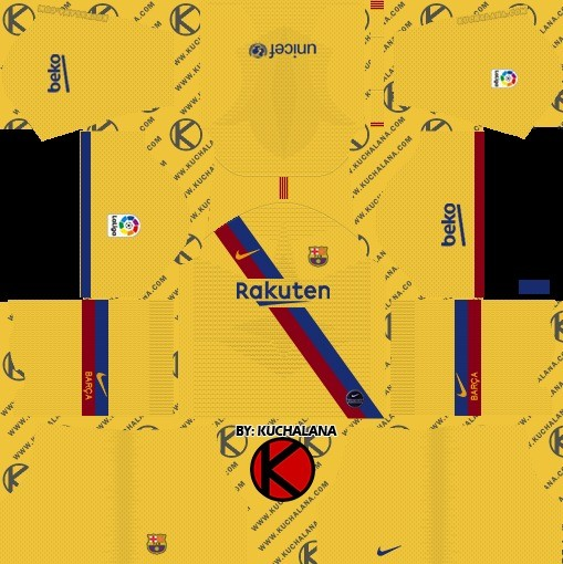 Kit reserva Barcelona Dream League Soccer