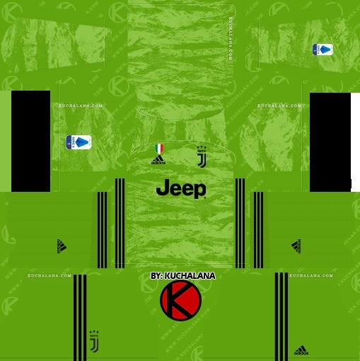Kit reserva Juventus goleiro dream league soccer