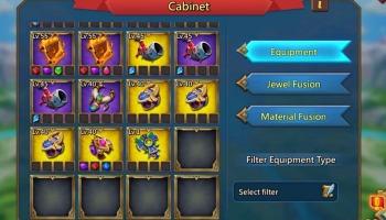 Lords Mobile: guia de equipamento para diferentes funções