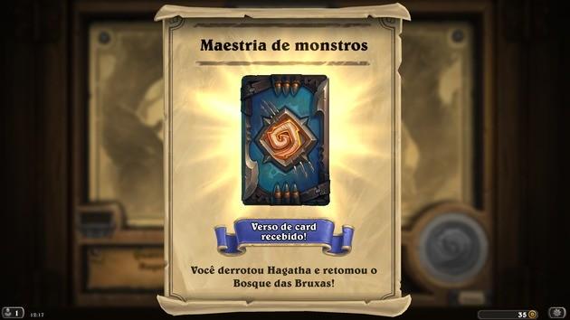 Recompensa Caça aos Monstros - Hearthstone